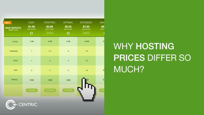 Hosting Price